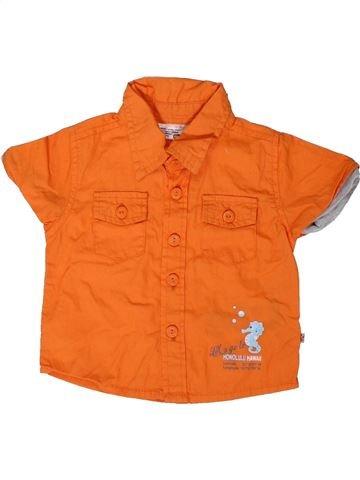 Chemise manches courtes garçon ERGEE orange 6 mois été #1360460_1