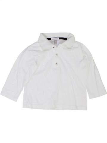 Polo manches longues garçon ABSORBA blanc 12 mois hiver #1360475_1