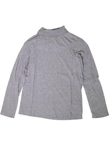 Camiseta de cuello alto niño MONOPRIX gris 12 años invierno #1360679_1