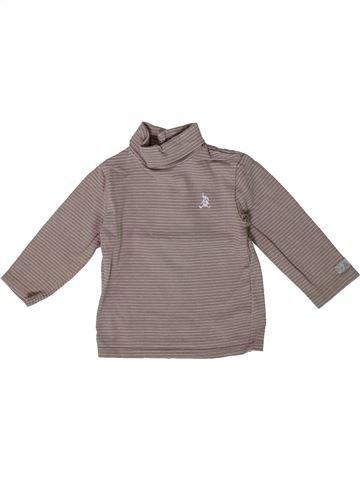 T-shirt col roulé garçon CYRILLUS gris 6 mois hiver #1361297_1
