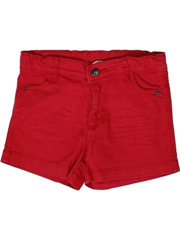 Short - Bermuda fille 3 POMMES rouge 12 ans été #1361605_1