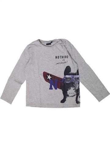 T-shirt manches longues garçon IKKS gris 6 ans hiver #1362273_1