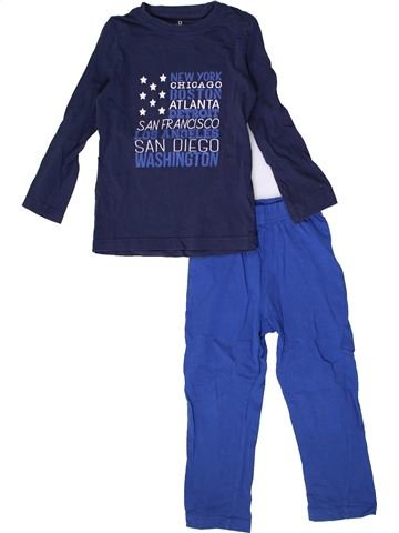 Pyjama 2 pièces garçon LA REDOUTE CRÉATION bleu 3 ans hiver #1362815_1