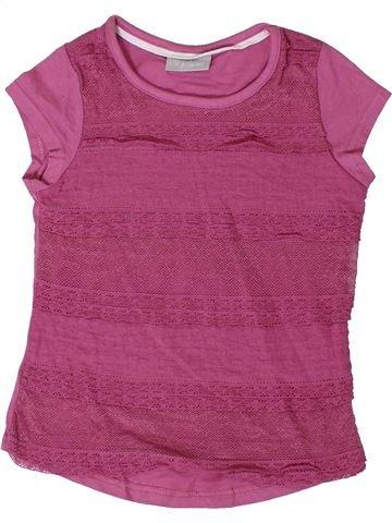 T-shirt manches courtes fille I LOVE GIRLSWEAR rose 3 ans été #1365025_1