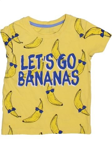 Camiseta de manga corta niño SANS MARQUE amarillo 2 años verano #1365034_1