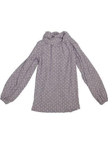 T-shirt col roulé fille LA REDOUTE CRÉATION gris 4 ans hiver #1365370_1