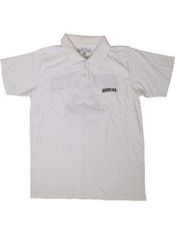 Polo de manga corta niño QUIKSILVER blanco 12 años verano #1365568_1