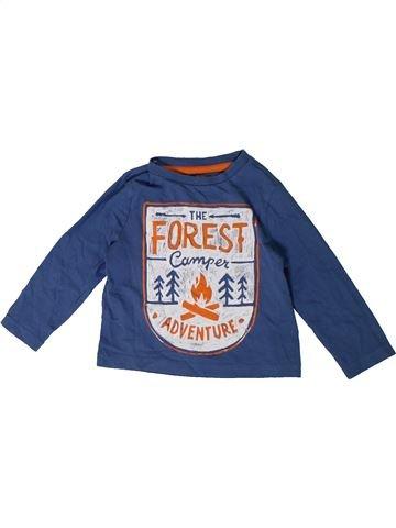 T-shirt manches longues garçon F&F violet 2 ans hiver #1365696_1