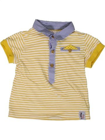 Polo manches courtes garçon M&CO beige 12 mois été #1366099_1