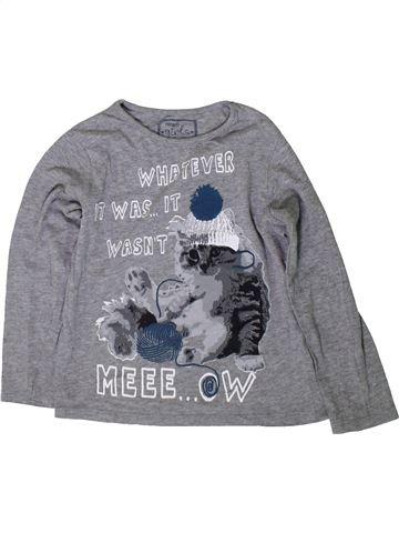 T-shirt manches longues garçon PEP&CO gris 6 ans hiver #1366119_1
