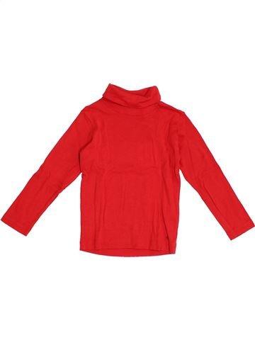 T-shirt col roulé fille PETIT BATEAU rouge 3 ans hiver #1366379_1