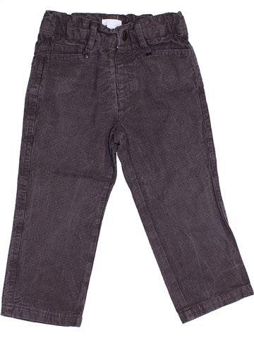 Pantalon garçon OKAIDI gris 2 ans hiver #1366390_1