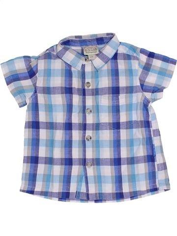 Chemise manches courtes garçon PREMAMAN bleu 6 mois été #1366718_1