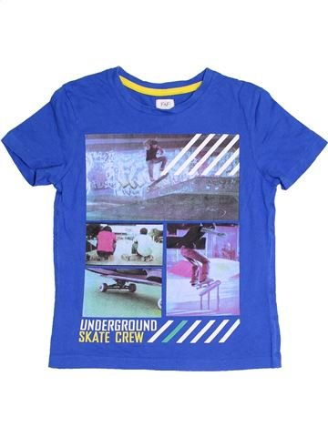 T-shirt manches courtes garçon F&F bleu 7 ans été #1366802_1