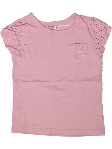 T-shirt manches courtes fille CARTER'S rose 4 ans été #1366987_1
