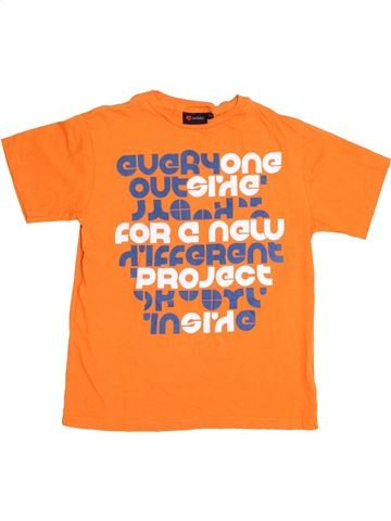 T-shirt manches courtes garçon INSIDE orange 10 ans été #1367099_1