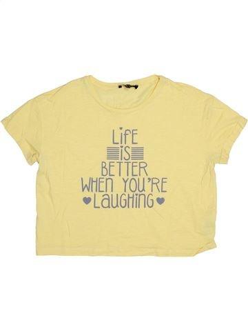 T-shirt manches courtes fille NEW LOOK beige 13 ans été #1367310_1