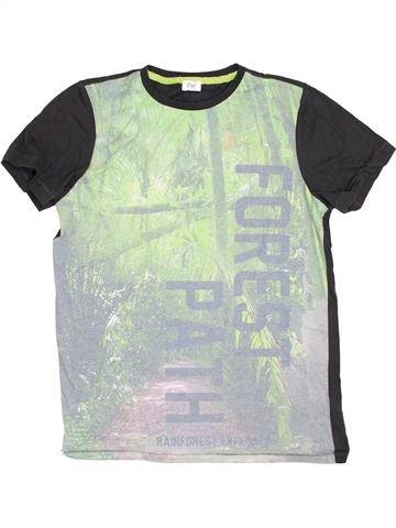 T-shirt manches courtes garçon F&F gris 14 ans été #1367473_1