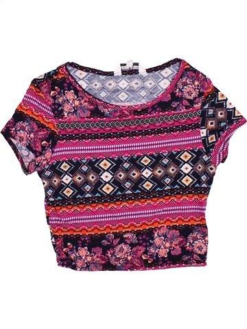 T-shirt manches courtes fille NEW LOOK violet 13 ans été #1367721_1