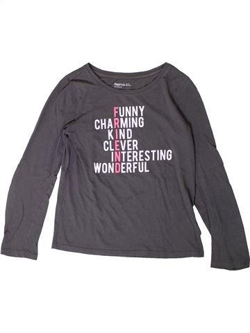 Camiseta de manga larga niña GAP gris 11 años invierno #1367755_1