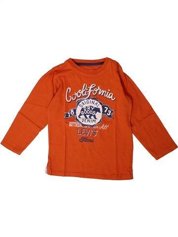 T-shirt manches longues garçon LEVI'S orange 4 ans hiver #1367758_1