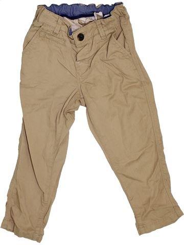 Pantalon garçon H&M marron 2 ans été #1367911_1