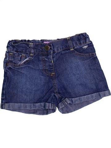 Short - Bermuda fille F&F bleu 4 ans été #1367967_1