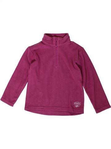 Pull fille DÉCATHLON violet 4 ans hiver #1368111_1