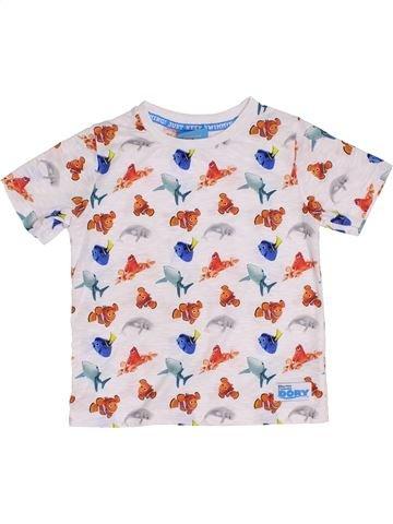 T-shirt manches courtes garçon NUTMEG blanc 4 ans été #1368140_1