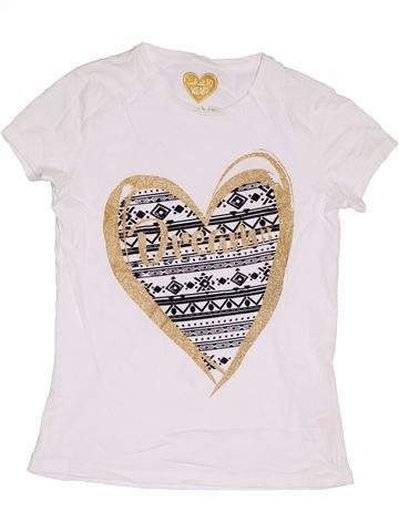 T-shirt manches courtes fille F&F blanc 10 ans été #1368153_1