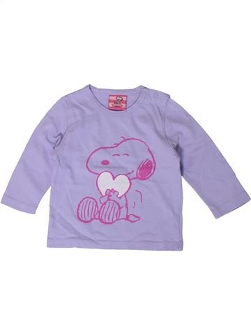 T-shirt manches longues fille SNOOPY violet 3 mois hiver #1368182_1