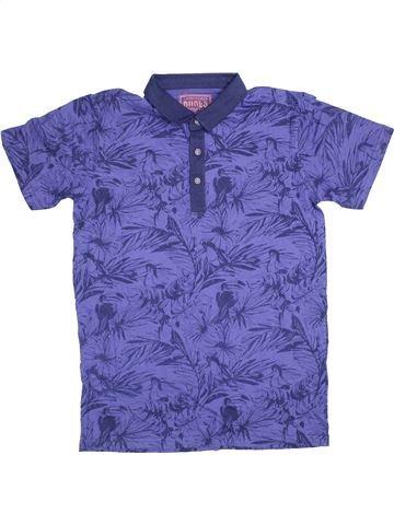Polo manches courtes garçon DUDES violet 13 ans été #1368233_1