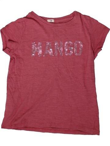 T-shirt manches courtes fille MANGO violet 6 ans été #1368444_1