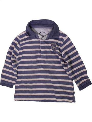 Polo manches longues garçon BOUT'CHOU violet 2 ans hiver #1368570_1