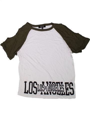 T-shirt manches courtes fille NEW LOOK vert 13 ans été #1368636_1