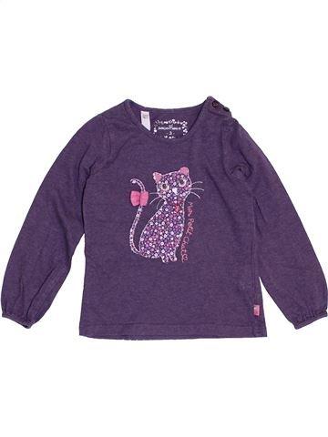 T-shirt manches longues fille SERGENT MAJOR violet 3 ans hiver #1369200_1