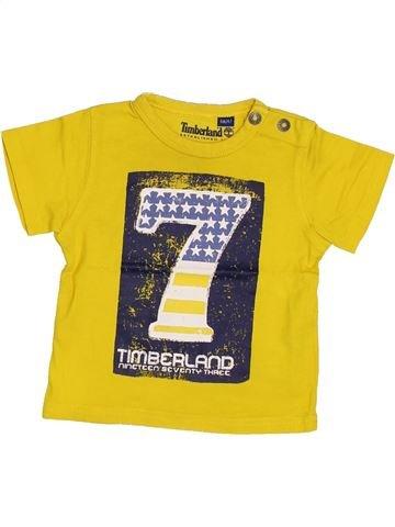 T-shirt manches courtes garçon TIMBERLAND jaune 6 mois été #1369217_1