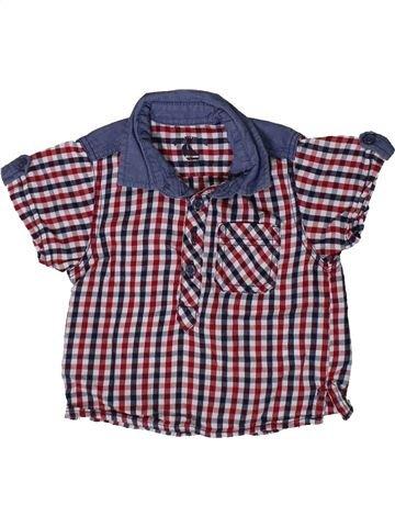 Chemise manches courtes garçon MATALAN violet 3 mois été #1369314_1
