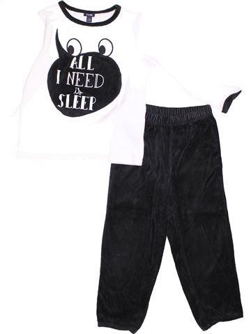Pijama de 2 piezas niño KIABI blanco 4 años invierno #1369384_1