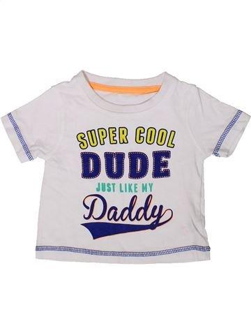 T-shirt manches courtes garçon HEATONS blanc 6 mois été #1369393_1
