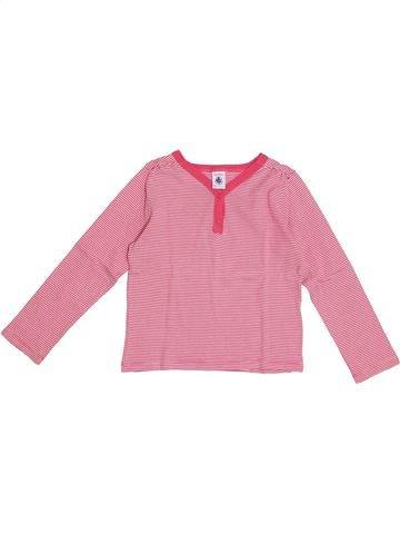 T-shirt manches longues fille PETIT BATEAU rose 6 ans hiver #1369400_1