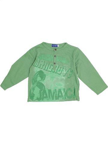 T-shirt manches longues garçon LA COMPAGNIE DES PETITS vert 5 ans hiver #1369487_1