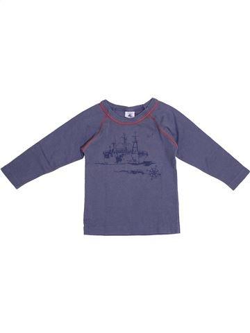T-shirt manches longues garçon PETIT BATEAU bleu 2 ans hiver #1369523_1
