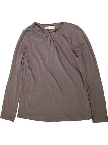 T-shirt manches longues fille ZARA gris 12 ans hiver #1369549_1