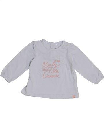 Camiseta de manga larga niña JBC gris 6 meses invierno #1369563_1