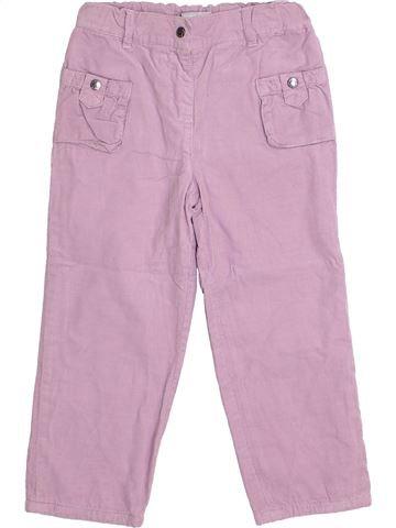 Pantalon fille 3 SUISSES rose 5 ans hiver #1369701_1