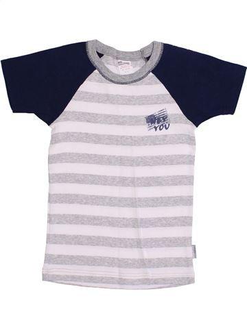 T-shirt manches courtes garçon ABSORBA blanc 8 ans été #1369765_1