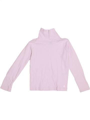 Camiseta de cuello alto niña PETIT BATEAU rosa 6 años invierno #1369776_1