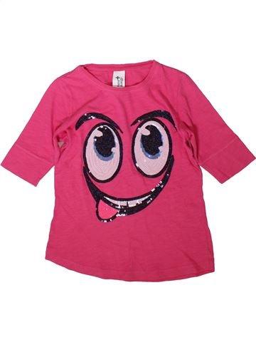 T-shirt manches courtes fille C&A rose 10 ans été #1369891_1