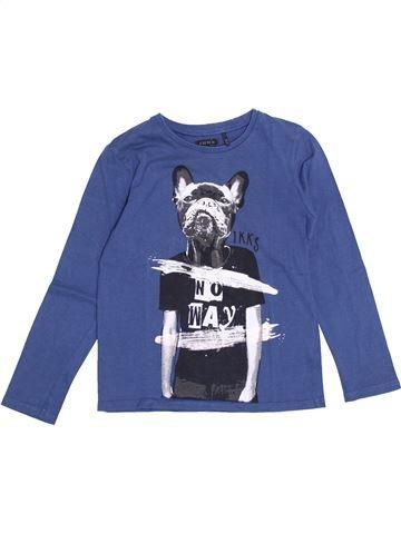 T-shirt manches longues garçon IKKS bleu 6 ans hiver #1370127_1
